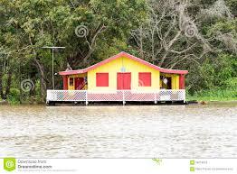 floating houses floating houses in manaus amazon brazil stock photo image