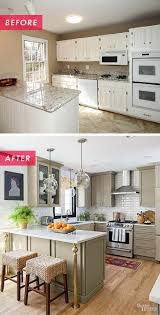 kitchen remodeling project with before and after photos