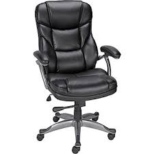 High Back Leather Armchair Staples Osgood Bonded Leather High Back Manager U0027s Chair Black