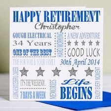 retirement cards designs personalised retirement card for him