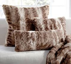 Pottery Barn Kilim Pillow Cover Faux Fur Pillow Cover Caramel Ombre Pottery Barn