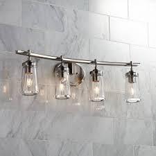 brushed nickel bathroom lights poleis 4 light 32 wide brushed nickel bath light bath light