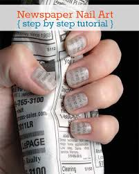 newspaper nail art tutorial step by step natural beauty skin care