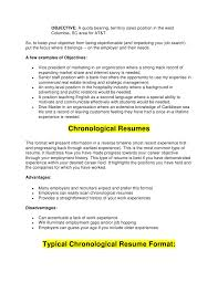 Chronological Resume Builder Chronological Resumes Chronological Resume Template 2017