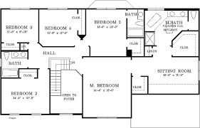 5 bedroom house plans 5 bed bungalow house plans epic 5 bedroom house plans in home