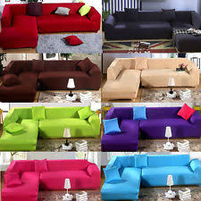 Colorful Sofa Covers Sofa Slipcovers In White Grey Black Red Stretch 3 Piece Ebay