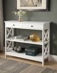 Entryway Table With Drawers Entryway Tables With Drawers 1 White Finish 3 Tier Console Sofa