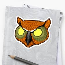 owl mask hotline miami rasmus owl mask stickers by spiceboy redbubble