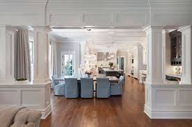 Dining Room Columns Interior Columns Transitional Dining Room Blue Water Home