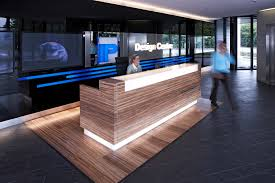 Modern Office Reception Table Design Reception Desk Like The Over Hang And The Back Feature