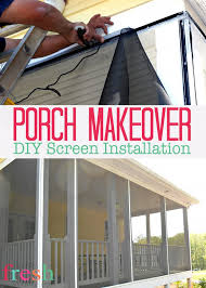 porch makeover screen installation