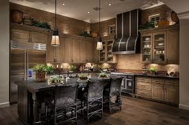 Contemporary Kitchen With Hardwood Floors Glass Panel Breakfast