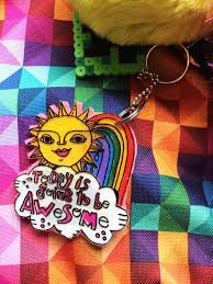 hello happiness book review giveaway and backpack charm diy