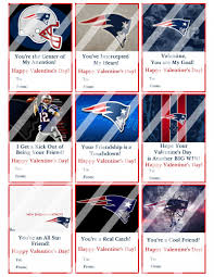 Valentine S Day Flags New England Patriots Valentines Day Cards Sheet 8 Instant