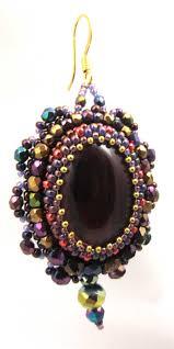 Crystal Chandelier Earrings Beadfeast Accessories Bead Embroidery Beadfeast