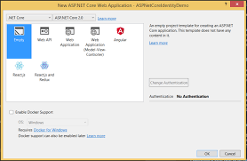tutorial asp net core 2 0 asp net core identity setting up a web project and the identity