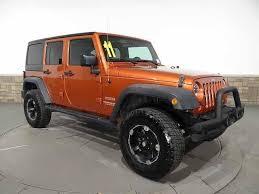 used jeep rubicon sale 2011 orange jeep wrangler unlimited sport http iseecars com