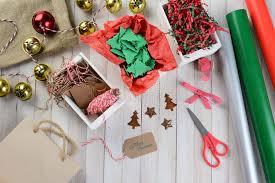 christmas gift wrapping supplies christmas wrapping supplies stock image image of christmas