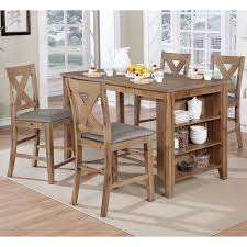 Counter Height Kitchen Islands Furniture Of America Delrio Rustic 5 Counter Height Table