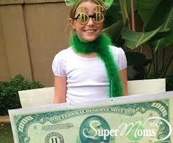 Money Halloween Costume Super Moms 360 Article Holiday Seasonal Fun Easy Sew