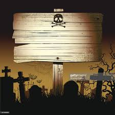 old scary halloween sign vector art getty images