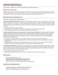 personal resume exle banker resume sales banker lewesmr