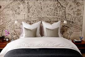 tapeten ideen schlafzimmer interessant tapeten ideen schlafzimmer mit gedruckten stadtkarte