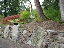 garden walls stone stone veneer garden wall waplag with footprints in buechels