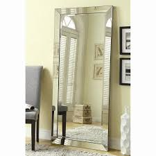 reflect an elegant style with an oversized beveled floor mirror