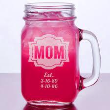 16 oz birthday gift for mom engraved mason jar mug