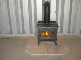 add a wood stove to your steel building steelmaster buildings