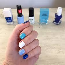 femail stacked five new non uv polishes against a salon gel