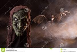Halloween Witch Props Scary Witch Head Prop Stock Photo Image 57460303