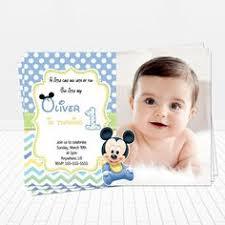 custom baby mickey mouse 1st birthday invitations by itsjenuine