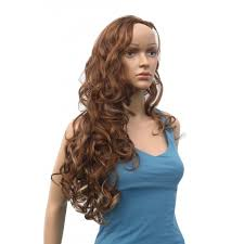 light brown hair piece extra glamourous one piece hair extension extra long wavy curls in