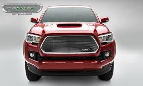 toyota car logo t rex toyota tacoma laser billet grille insert polished