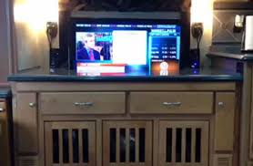 auto raising tv cabinet custom tv lift tv lift photos installs nexus 21