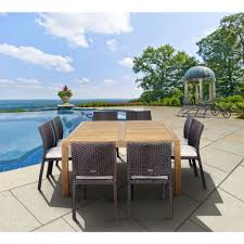 amazonia georgia 9 piece square patio dining set with off white