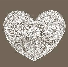 heart doily heart shape is made of lace doily element for valentines day or