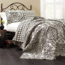 Black And White Paisley Comforter Black And White Paisley Bedding Visualizeus