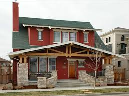 brown craftsman homes exterior paint colors for brick homes red
