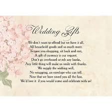 wedding gift list wording vintage flower gift wish card from 0 40 each