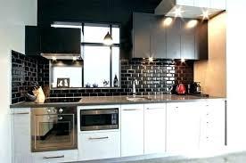 cuisine metro credence noir cuisine metro la glass stain magnetique sur mesure