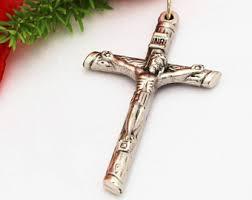 crucifix jewelry crucifix pendant etsy