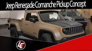 jeep comanche roof basket your jeep renegade comanche pickup concept youtube