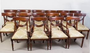 Regency Dining Chairs Mahogany Set 16 Vintage Regency Style Dining Chairs Swag Back