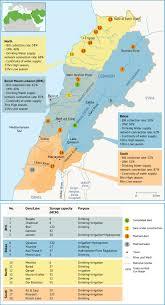 Lebanon World Map by Water Infrastructure In Lebanon Fanack Water