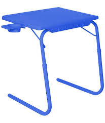 brown table mate ii 2 folding portable adjustable table with cup