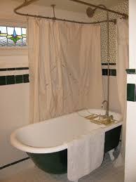 Design Clawfoot Tub Shower Curtain Rod Ideas Clawfoot Tub Shower Curtain Rod Support Shower Curtains Ideas