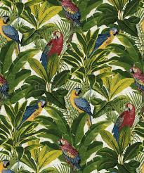 Parrot Decorations Home by Grandeco Exotic Red Wallpaper A11502 Tropical Forest Parrots Birds
